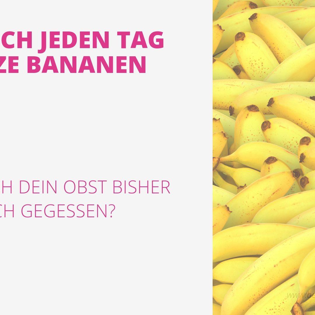 Warum ich jeden Tag schwarze Bananen esse