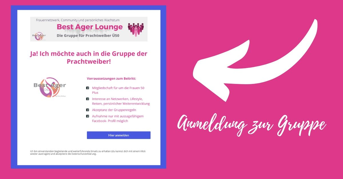 Best Ager Facebook Gruppe Ü50, Lifestyle 50 Plus, Frauen ab 50, Community, Frauen 50Plus, Reisen, Mallorca für Frauen, Best Ager Lounge, Frauennetzwerk,