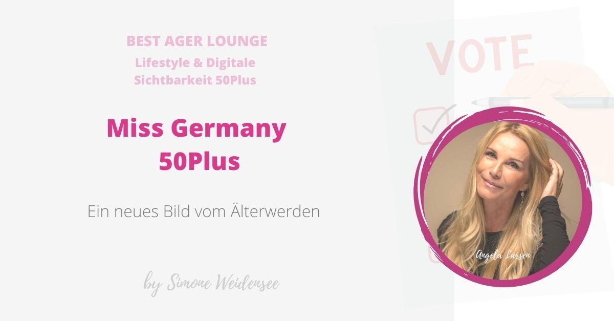 Angela Larsen, Miss Germany 50 Plus Miss Deutschland Ü50